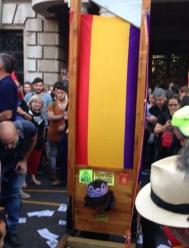 Una guillotina en Valencia.