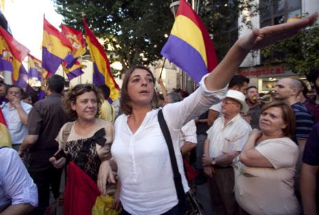 La consejera de Vivienda, Elena Cortés, en la concentración de...