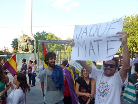 Concentración a favor de la República en Jaén.
