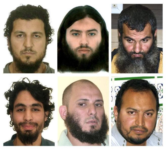 Imágenes de los seis yihadistas detenidos el pasado viernes en...