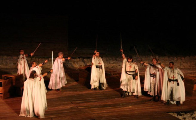 Imagen del festival templario de Jerez de los Caballeros.