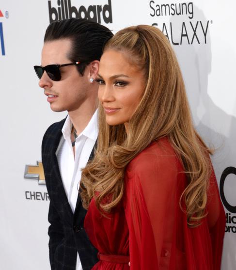 La cantante y el bailarín, el mes pasado en los premios Billboard.
