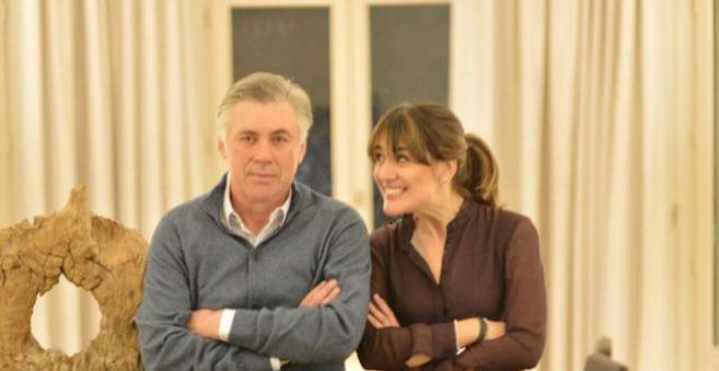 Ancelotti, con su hija.