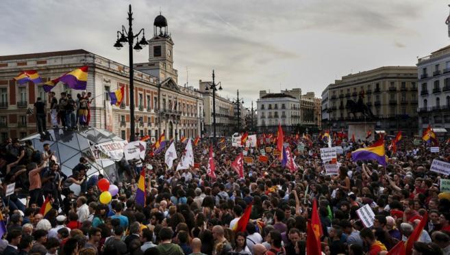 Concentración a favor de la república celebrada en la Puerta del...