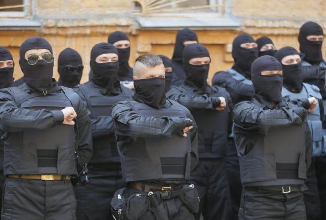 Soldados ucranianos destacados en el este del país.