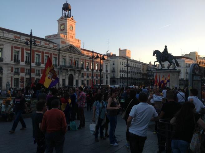 La Puerta del Sol a la hora de la convocatoria republicana este...