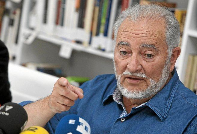 Julio Anguita, en un acto del Frente Cívico 'Somos...