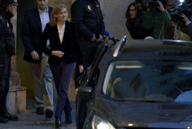 La Infanta Cristina, tras declarar en los juzgados de Palma.