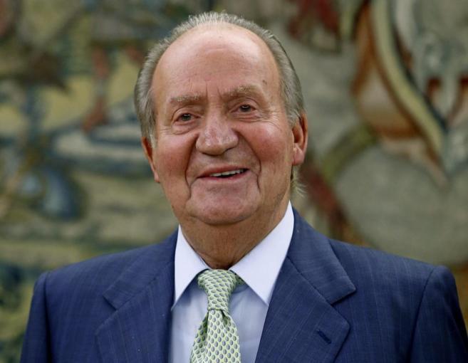 El Rey Juan Carlos en una imagen en Zarzuela el pasado lunes.