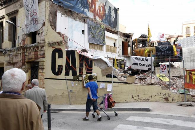 El centro social 'okupado' de Can Vies.