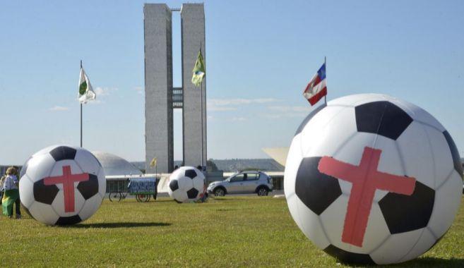 Protestas por la celebración del Mundial en Brasil.