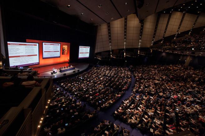 Imagen de una de las salas durante una ponencia del Congreso Americano...
