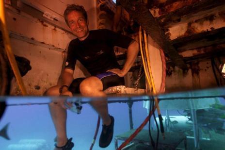 Fabien Cousteau, en el laboratorio 'Aquarius'