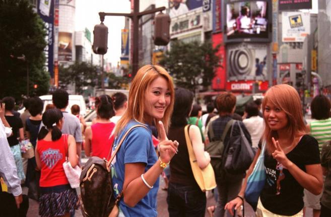 Jóvenes japonesas en Tokio
