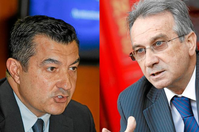 El vicealcalde de Alicante, Andrés Llorens (i), y el concejal del PP...