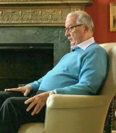 Alberto II, en un momento de la entrevista.