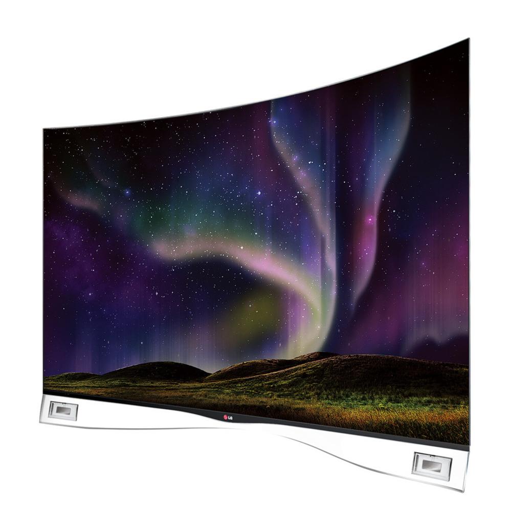 <strong>LG 55EA980.</strong>  Éste es uno de los pocos televisores con tecnología OLED a la venta en España, una tele curva con un diseño impactante. ¿Qué ventaja tiene esta tecnología, más cara que los televisores LED-LCD convencionales? No necesita de un sistema de retroiluminación. Cada uno de los puntos que forman la imagen emite su propia luz. Gracias a esto es más fácil fabricar televisores planos y flexibles. OLED responde también mejor al movimiento de la imagen y tiene un brillo y contraste superior al que se consigue con otros sistemas. Esta pantalla de LG de 55 pulgadas es también inteligente. Permite instalar aplicaciones y juegos y en su peana lleva integrados altavoces capaces de crear sensación de sonido envolvente. A pesar de su gran tamaño, pesa apenas 17 kilos, una fracción de otros del mismo tamaño. Precio: 4.499 euros. www.lge.es