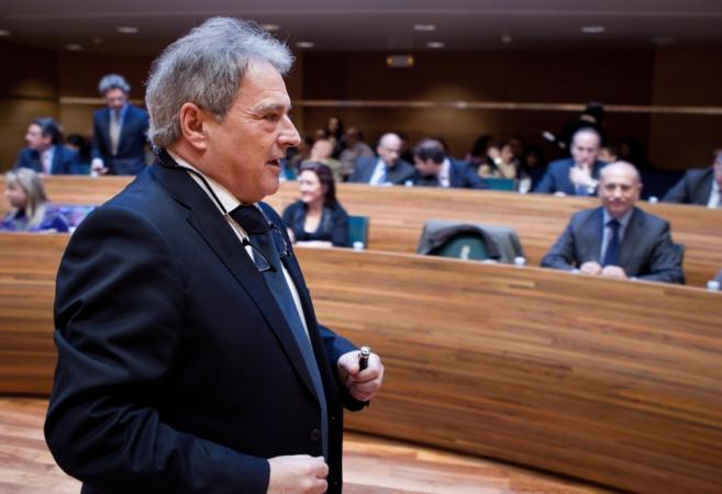 El presidente de la Diputación, Alfonso Rus, en un pleno.