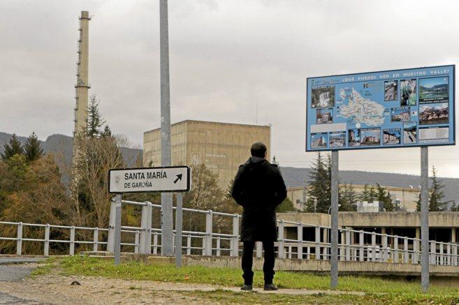 Entrada a la central nuclear de Garoña.