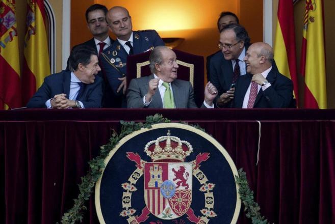 El Rey Juan Carlos, el miércoles en la plaza de toros de Las Ventas.