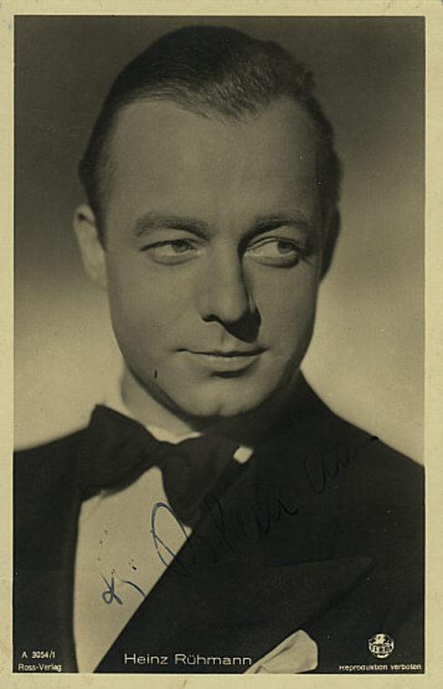 Heinz Rühmann, la gran estrella del humor en Alemania, en los años...