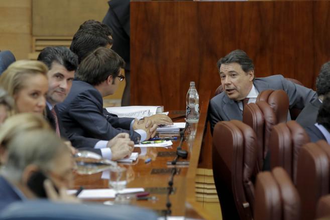 El presidente de la Comunidad, Ignacio González, en la Asamblea de...