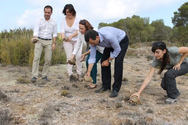 El conseller de Agricultura, Biel Company, en el Parque Natural de ses...