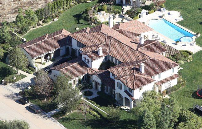 La mansión de Bieber en Calabasas.