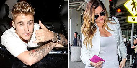 Justin Bieber y Klhoe Kardashian.