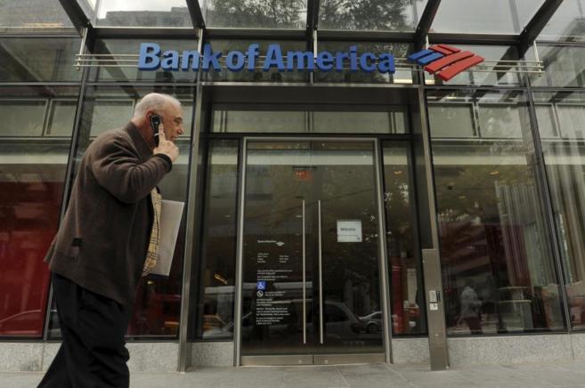 Fachada de una de las sucursales de Bank of America en Washington DC.