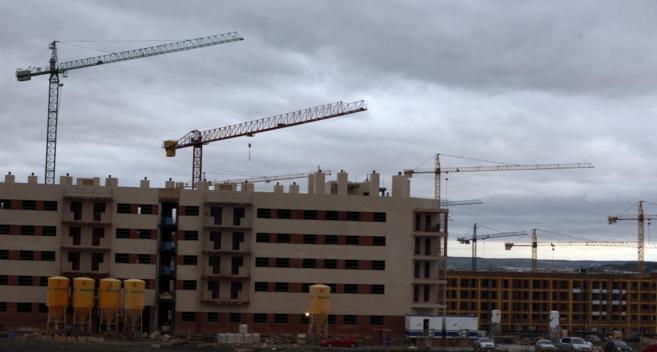 Viviendas en construcción en el barrio de Buenavista, Getafe