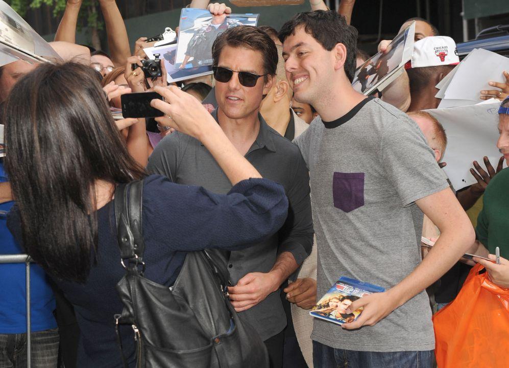 El actor Tom Cruise sigue con la promoción de su nueva película...