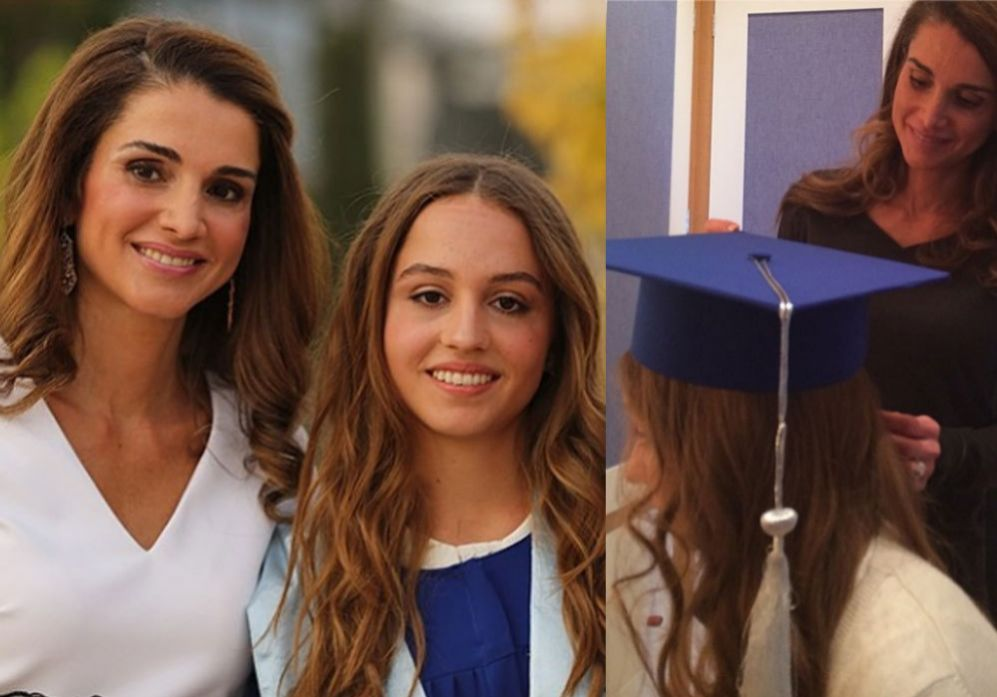 La reina Rania de Jordania presume de hija en el día de su...