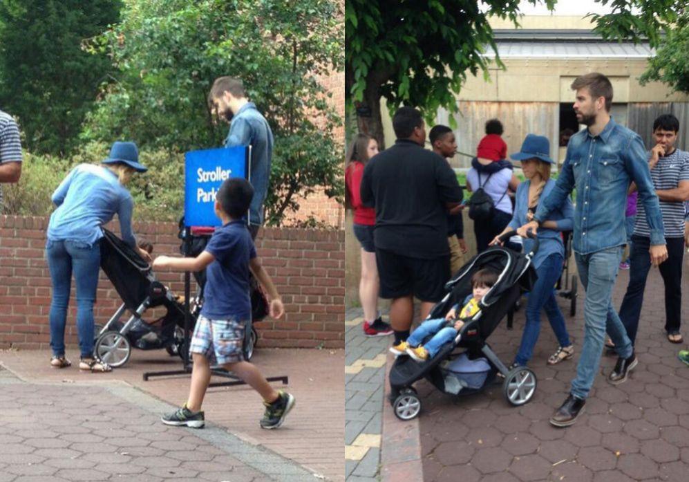 Gerad Piqué y Shakira pasean por el zoo de Washington con su hijo...