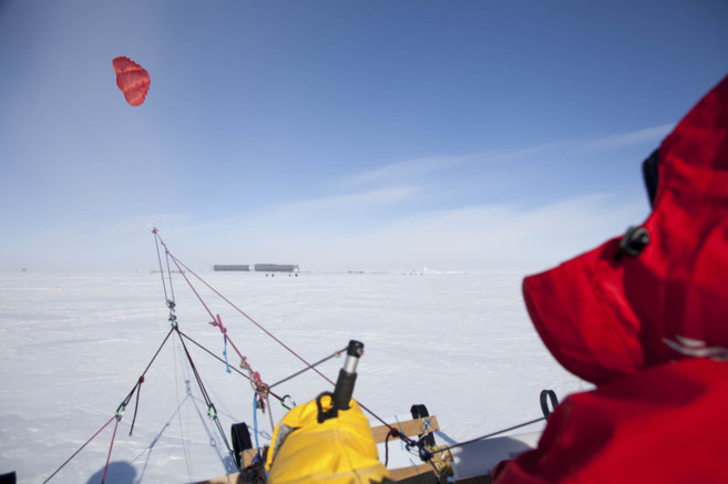 Una imagen de la anterior expedición de Ramón Larramendi a bordo del...