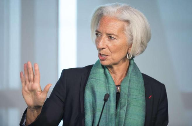 La directora gerente del FMI, Christine Lagarde, durante un evento en...