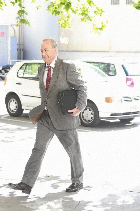 El juez Castro a su llegada a los juzgados de Palma.