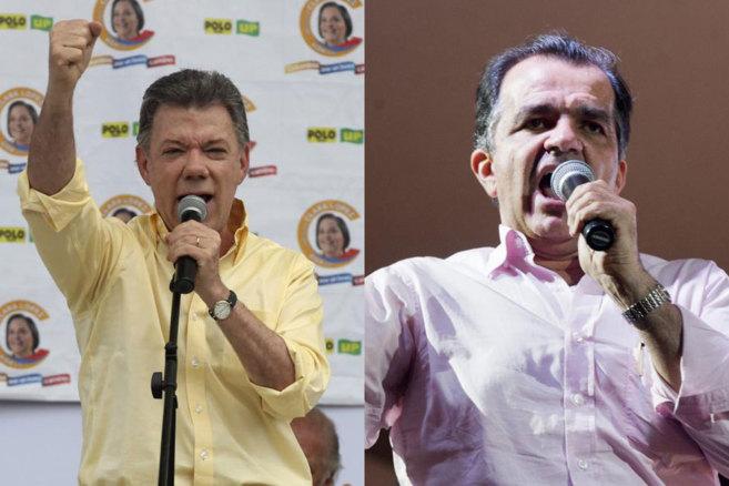 Juan Manuel Santos e Iván Zuluaga.
