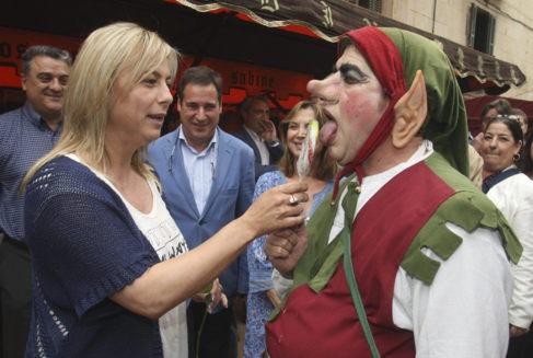 Castedo, en la inauguración de la feria medieval de Alicante.