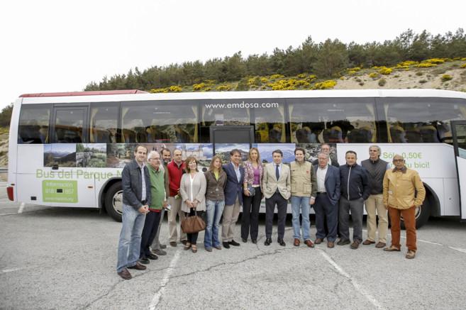 Presentación del autobús que recorrerá el Parque Nacional del...
