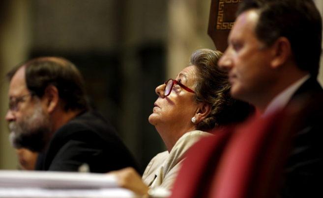 La alcaldesa Rita Barberá, durante un pleno.