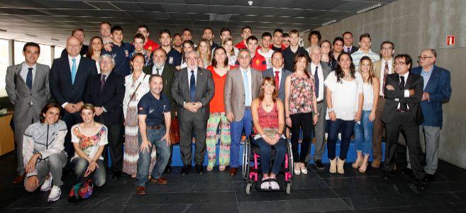 Foto de familia en el COE durante la presentación del Gabinete de...