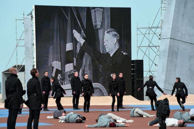 Imagen de una 'performance' sobre el régimen de terror de...