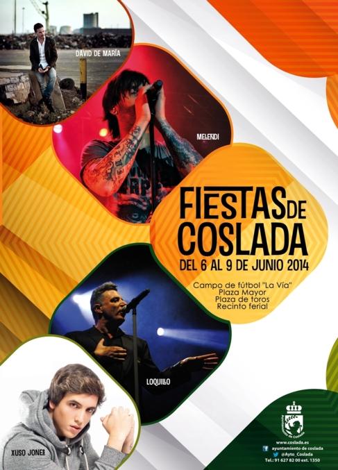 Cartel de las fiestas de Coslada.
