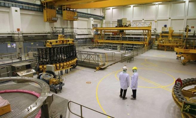 Interior de la central nuclear de Garoña.