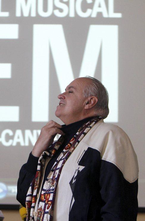 José Luis Moreno el día que presentó su propuesta para El Musical.