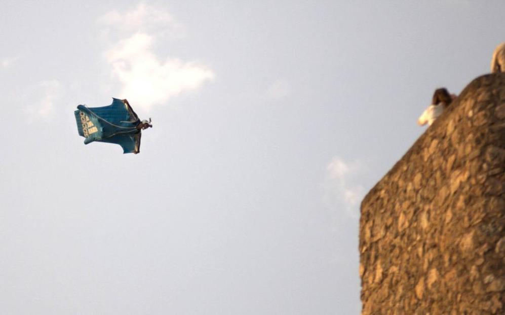 Darío Barrio, en el salto que le costó la vida en una exhibición de...