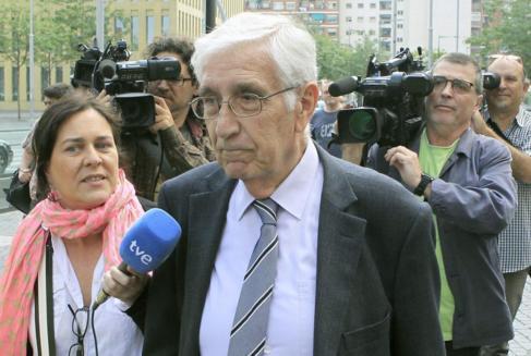 Osàcar, a su llegada a los juzgados.