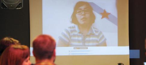 María Osorio, durante su videoconferencia.