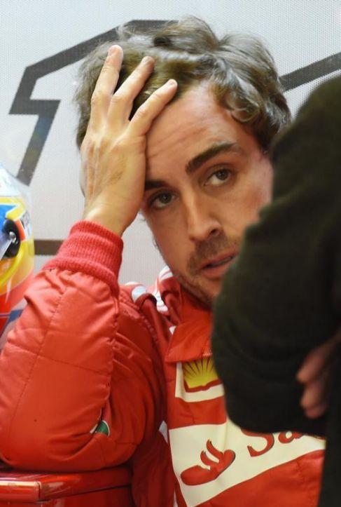 Fernando Alonso, durante la sesión de clasificación.